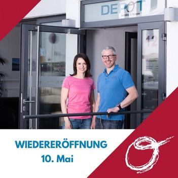 Das DEPOT kann ab Montag, den 10. Mai 2021 wieder öffnen!