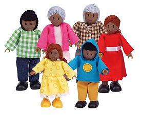 Hape Happy Family African American Dolls