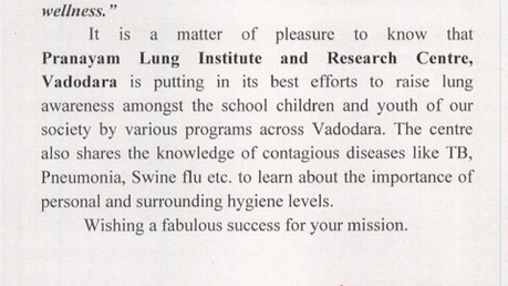 Letter of Appreciation from Ex-CM Mrs Anandiben Patel (Honorable CM of Gujarat) to Mrs. Ro