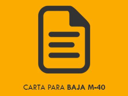 Carta baja M-40 Formato + guía de uso