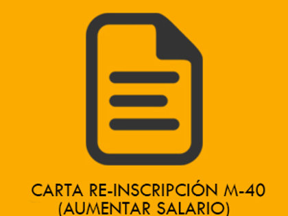 Carta Reinscripción Modalidad 40
