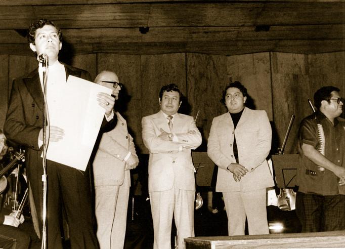 Sergio Cárdenas, Adolfo Dominguez, Roberto Bravo,  Ignacio Guzmán, y Ángel Ruiz, 1980