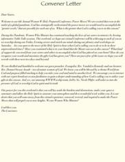 Convener Letter