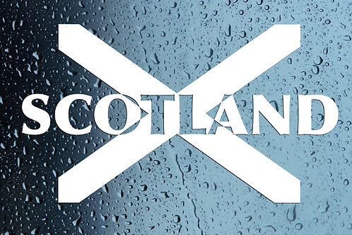 Scotland Scottish Flag Car Window Sticker Decal
