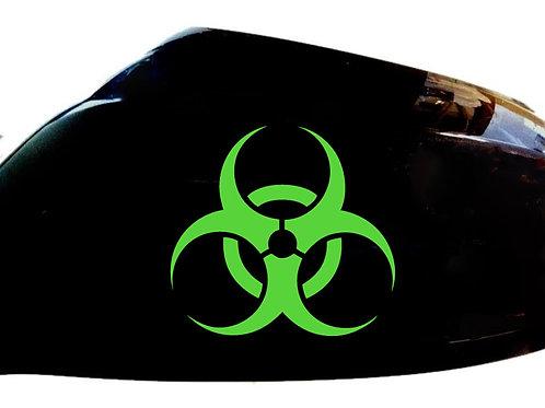Biohazard Car Sticker Wing Mirror Styling Decals (Set Of 2)