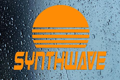 Synthwave Sun Car Window Sticker Decal
