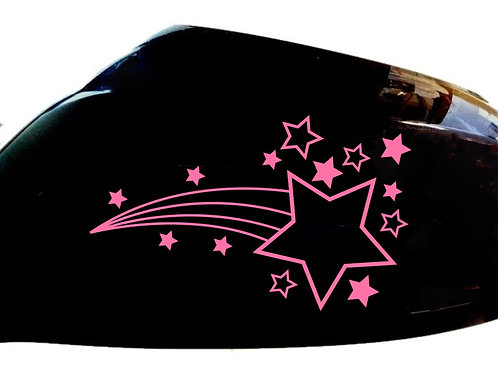 Shooting Stars Car Sticker Wing Mirror Styling Decals (Set Of 2)