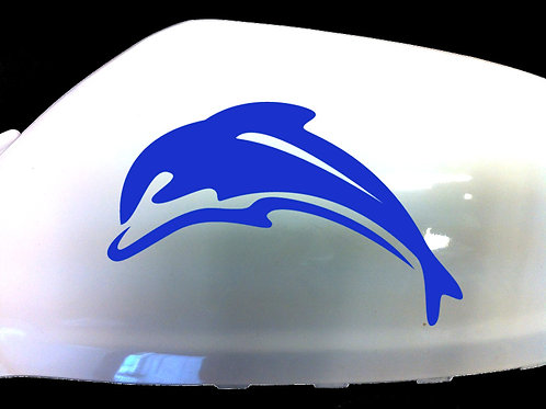 Dolphin Car Sticker Wing Mirror Styling Decals (Set Of 2)