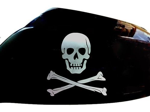 Skull and Crossbones Car Sticker Wing Mirror Styling Decals (Set Of 2)