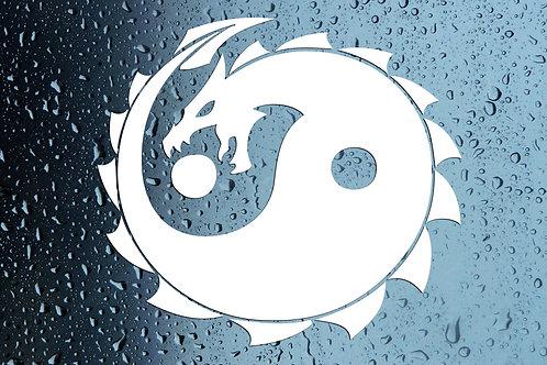 Yin Yang Dragon Car Window Sticker Decal