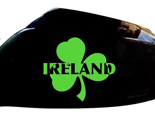 Ireland Irish Shamrock Car Sticker Wing Mirror Styling Decals (Set Of 2)