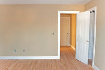 Newly constructed house interior room wi