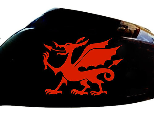 Welsh Dragon Car Sticker Wing Mirror Styling Decals (Set Of 2)