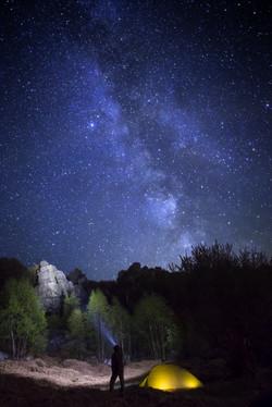 Roc la tour by night