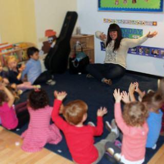 Teaching pre-k music class