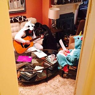 Samantha Gambaccini teaching in costume