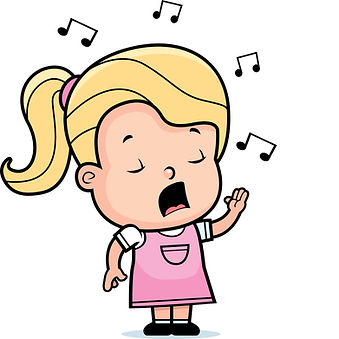 Cartoon singing girl clipart