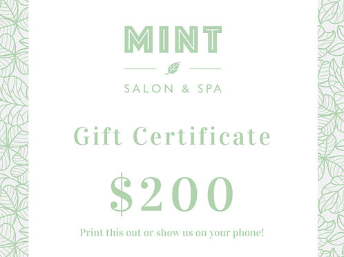 $200 Email Gift Certificate