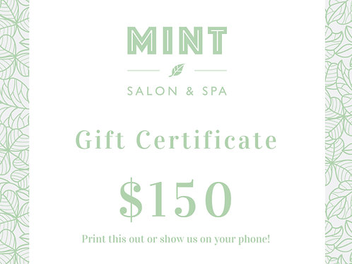 $150 Email Gift Certificate