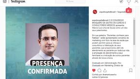 Palestrante no II Congresso Brasileiro de Gestão de Clinicas e Consultórios Médicos.