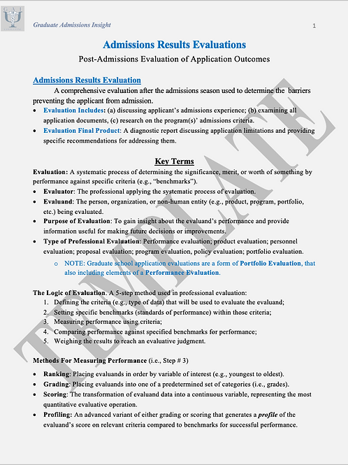 Application Package(s) Evaluation