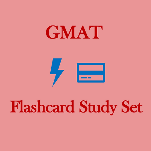 GMAT [2,000 Card] Flashcard Study Set