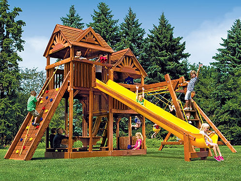 King Kong Clubhouse Pkg III Loaded with Wood Roofs (55F)