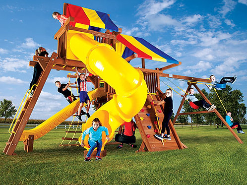 Rainbow Castle Pkg V with 270° Spiral Slide
