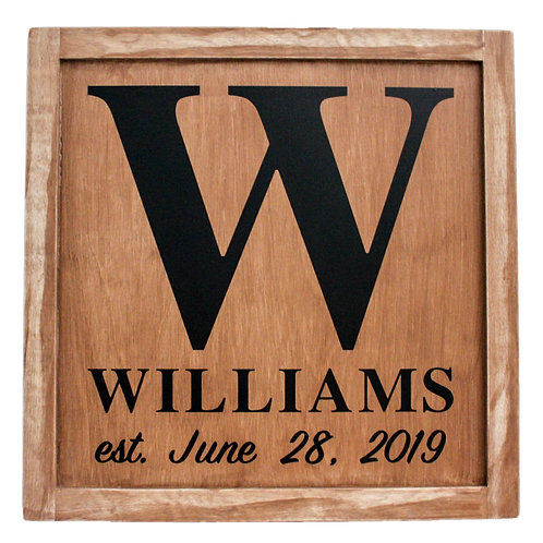 OG1W Collection: Farmhouse Style Family Name Wood Panel (More Colors Available)