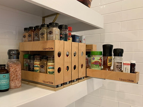 Upperslide Cabinet Caddies Single Spice Rack Pull Out Large (US 303SL)