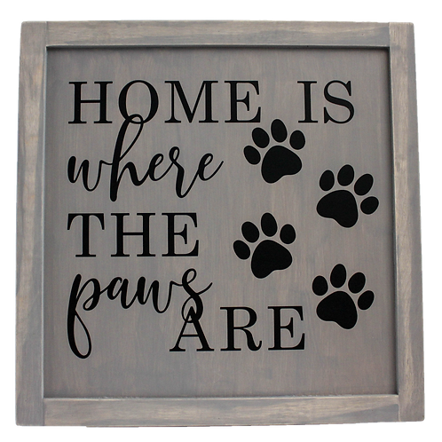 OG1W Collection: Farmhouse Home Is Where the Paws Are Wood Panel (More Colors)