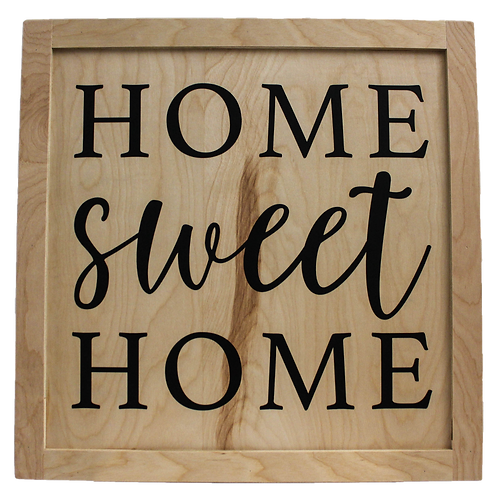 OG1W Collection: Farmhouse Home Sweet Home Wood Panel (More Colors Available)