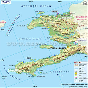 Haiti, courtesy of Maps of World