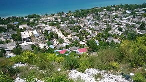 Looking down (north) toward Marianie, Haiti and Carrefour