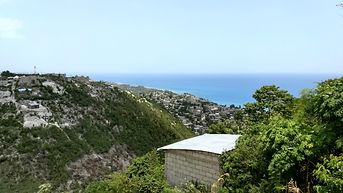 Looking northwest from Marianie, Haiti