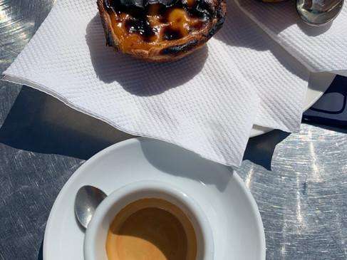 Pastel de Nata & Coffee -- lots of cafes