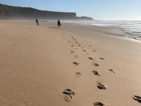Walking at Monte Clerigo Beach -- only a ten minutes drive from Casa da Vida II.