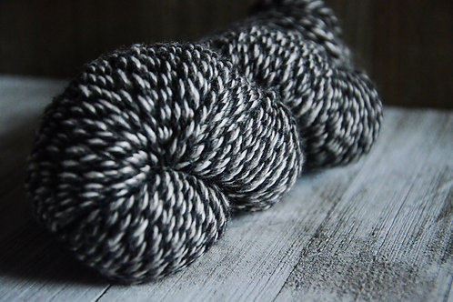 Worsted Yarn - Black, Grey & White