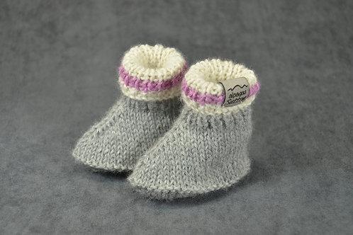 Pink Heritage Newborn Booties