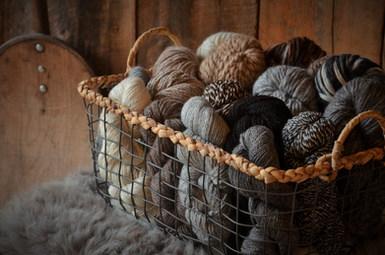 Natural undyed alpaca yarn