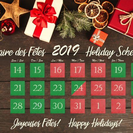 Special Holiday Schedule