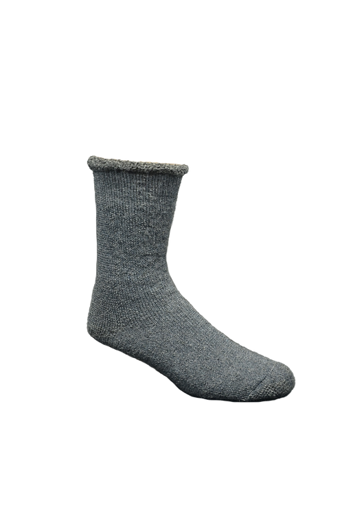 Grey thermal alpaca socks made in Quebec