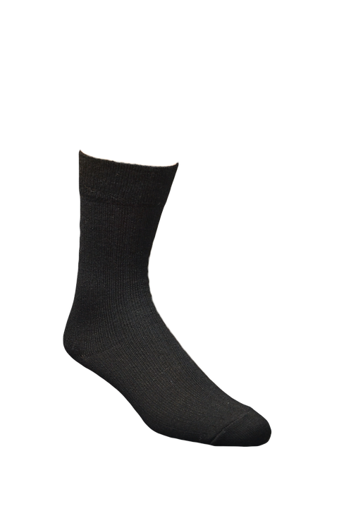 Black casual alpaca sock