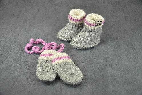 Pink Heritage Mittens & Booties
