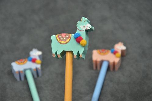 Pencil with alpaca shaped eraser