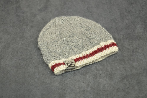 Canadian wool socks style hand knitted alpaca hat for newborn
