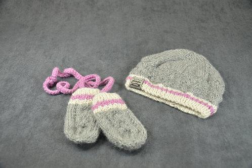 Pink Heritage Hat & Mittens