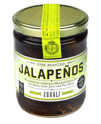 Zukali Fire Roasted Soy Lime Jalapenos