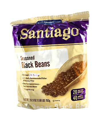 Santiago Seasoned Black Beans- 763gm