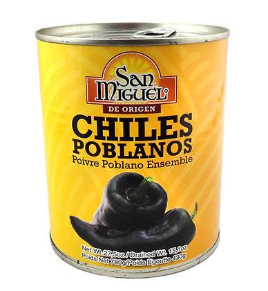 San Miguel Whole Poblanos - 780 gram